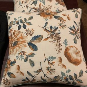 2 Beautiful Couch Pillows - like new